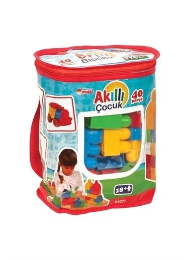 Dede Dede Akıllı Çocuk 40 Parça Eğitici Lego Yapboz Puzzle Oyuncak Renkli